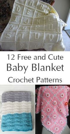 Keep your baby cozy with these crocheted baby blanket patterns.