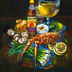 Crawfish Fixin's - Painting by Dianne Parks ©