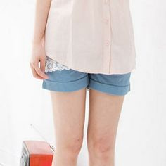 Buy 'CatWorld – Drawstring-Waist Cuffed Shorts' with Free International Shipping at YesStyle.com. Browse and shop for thousands of Asian fashion items from Taiwan and more!
