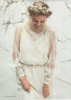 Un vestido de cuento de hadas, para una novia romántica