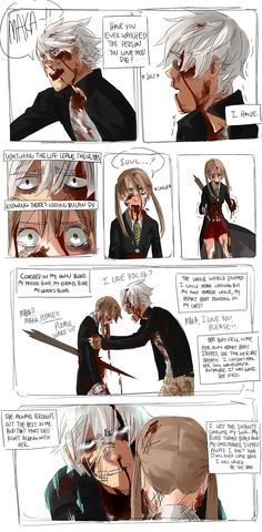 """Soul Eater"" fan art - Why? by Jazzie560.deviantart.com on @deviantART. WHO THINKS OF THIS STUFF?!?!?!? WHY WOULD YOU DO THIS??! ;~; SO GOOD YET SO SAD!!!!"