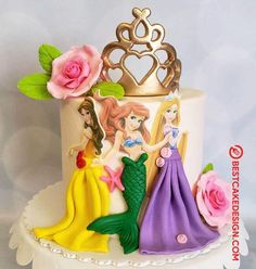 50 Most Beautiful looking Disneys Belle Cake Design that you can make or get it made on the coming birthday. Candy Birthday Cakes, Baby Girl Birthday Cake, Disney Princess Birthday Party, Cake Designs Images, Cool Cake Designs, Duck Cake, Belle Cake, Green Tea Ice Cream, Cake Decorating Videos