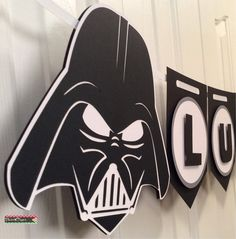 Custom Darth Vader Star Wars Party Banner by Flair4Paper on Etsy