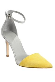 These Yellow Heels Work Great in the Summer and Fall