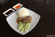 """Download the royalty-free photo """"Chicken Bake with rice."""" created by ekapolsira at the lowest price on Fotolia.com. Browse our cheap image bank online to find the perfect stock photo for your marketing projects!"""