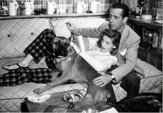 Humphrey Bogart and Lauren Bacall | Classic Movie Stars Spending Time With Their Pets