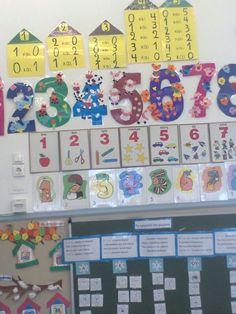 Αριθμοί Pre School, Mathematics, Teaching Ideas, Classroom, Holiday Decor, Fall, Math, Class Room, Autumn