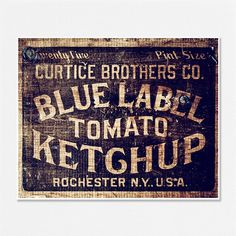 I think something like this would go well with what we already have for the kitchen. Like vintage signs or something really rustic like that.