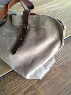 KP#1313 cream suede leather bag labour-of-art.com