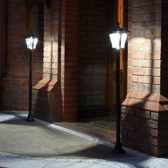 Stunning Solar Lamp Posts: Solar LED Lamp Post Lights From Festive Lights Solar Led, Solar Lights, Solar Lamp Post, Solar Powered Lamp, Lamp Post Lights, Outdoor Garden Lighting, Led Lamp, Solar Panels, Bulb