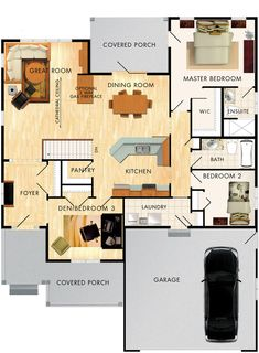 Birchlane Floor Plan by beaverhomesandcottages Small House Floor Plans, Dream House Plans, My Dream Home, Building Plans, Building A House, Beaver Homes And Cottages, Video Vintage, Sims House, House Layouts