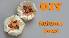 DIY autumn bows / Kanzashi tutorial