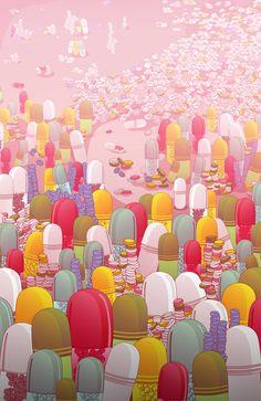 Society of Pills Art Print by Noel DelMar | Society6