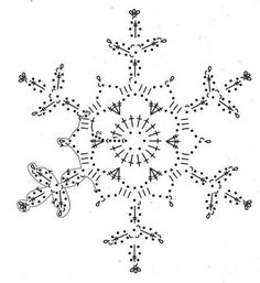 Zasaharivaniya crocheted snowflakes, chart, page 5/6