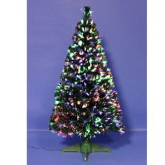 Green Spectrum Fibre Optic Tree 150cm (Approx 5ft) - This tree can brighten up any home with this fantastic #green fibre optic #Christmas tree with colourful LED bursts