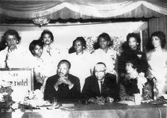 Dr. Martin Luther King, Jr. spoke at the 28th National Convention in Los Angeles (1965). Also pictured are 10th National President Dr. Dorothy I. Height (at the podium) and 13th National President Geraldine Woods (seated at right).