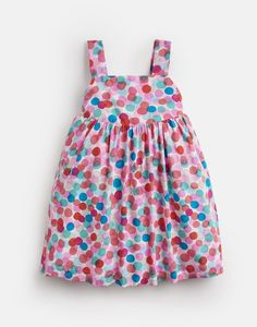 Joy MULTI FAIRY SPOT Woven Printed Dress 1-6 Yr | Joules UK Mens Rain Boots, Girls Rain Boots, Joules Girls, Joules Uk, Boots Gifts, Stylish Little Girls, Girls Dresses, Summer Dresses, Spots