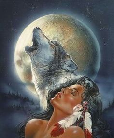 Spirit of the wolf & woman.