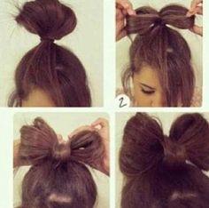 DIY Bow Hair!!!!