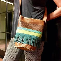 Another bohemian bag for this summer season! #turquoise #bags #summerbags #summer #fashion #etsy #etsyshop #fringes #mode #bohemian #bohobag #colorful #bolso #ibiza #verano #cool #color #blue #leather #bohochic