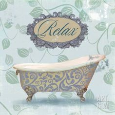 Relax Bath Reproduction d'art