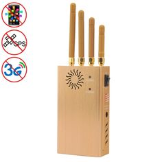 [$90.71] GSM / CDMA / DCS / PCS / 3G / GPS High Power Portable Mobile Phone Signal Breaker / Jammer / Isolator, Coverage: 20meters,JAX-121D (Gold)