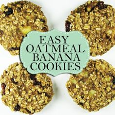 21 Day Fix Recipes: Oatmeal Banana Cookies