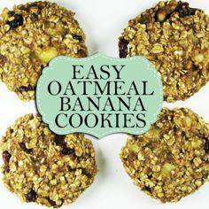 21 Day Fix Recipes: Oatmeal Banana Cookies
