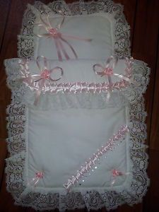 Diy Crafts - Stunning Baby Pram Set Romany Style with Lace & Crystals for Large Silver Cross Baby Set, Baby Doll Carrier, Pram Sets, Diy Crafts Knitting, Baby Carrying, Dolls Prams, Baby Prams, Baby Sewing Projects, Baby Quilts