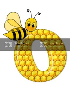 Alfabeto de abeja sobre letras de panal. - Oh my Alfabetos! Blogger Templates, Tigger, Disney Characters, Fictional Characters, Symbols, Alphabet, Honeycomb, Bees, Lyrics