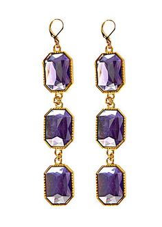 Lavender Chandelier Earrings handmade jewelry designed and handcrafted for Alyssa Nicole Fall 2013