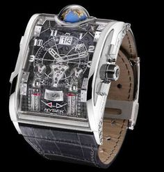 The Hysek Colosso limited edition watch is aptly named - it is a colossal watch both in size and in price tag ($550,000). Hysek, the watch company says it is the most complex watch ever. The case is transparent - dials, gauges and even a rotating 12mm 3-D globe which turns once every 24 hours