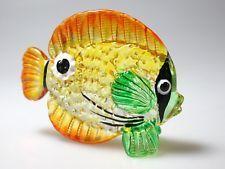 Aquarium Craft Collectible MINIATURE HAND BLOWN GLASS Fish FIGURINE # 69