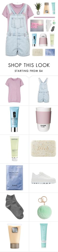 """""""collab with sa(bad) / champagne supernova"""" by kristen-gregory-sexy-sports-babe ❤ liked on Polyvore featuring Topshop, Clinique, ROOM COPENHAGEN, Darphin, Fresh, MM6 Maison Margiela, Gap, Laura Mercier, KORA Organics by Miranda Kerr and Carbon & Hyde"""