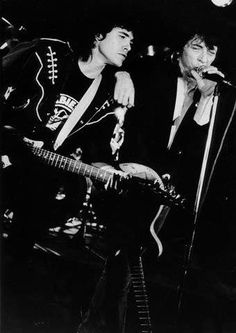 JOHNNY THUNDERS AND PETTER BAARLI AT SARDINE'S, OSLO, NORWAY, AUGUST 1987