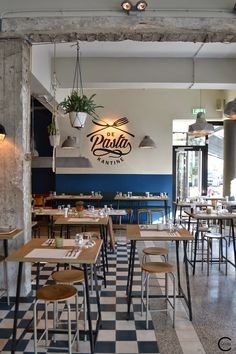 De Pasta Kantine | The Pasta Canteen | Rotterdam restaurant C-More | design + interieur + trends + prognose + concept + advies + ontwerp + cursus + workshops
