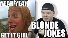 While perusing the interwebs for my last video I stumbled on some dumb blonde jokes. Figured I would share some of the jokes I found about said blondes lol. Best Funny Jokes, Hilarious, Dumb Blonde Jokes, 10 Interesting Facts, Best Memes Ever, Just Go, Dumb And Dumber, Kids Girls, Laughter