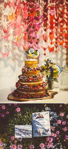 Amazing naked wedding cake and really sweet cake toppers - South Farm Wedding - Hertfordshire - Babb photo Creative Wedding Cakes, Creative Wedding Photography, Cool Wedding Cakes, Wedding Cake Designs, Wedding Cake Toppers, Farm Wedding, Wedding Blog, Wedding Ideas, Wedding Stuff