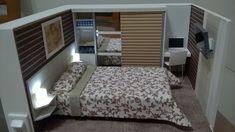 Roombox miniatura de quarto com LED