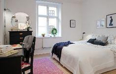 Скандинавская спальня, простота и комфорт