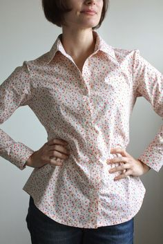 Nicole at Home: Granville Shirt by Sewaholic