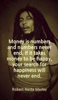 Money is a number....