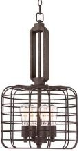 Industrial Cage Modern Rust Metal 27 1/2-Inch-H Pendant  Franklin Iron Works