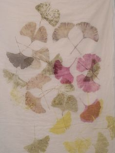 leaf-prints on fabri