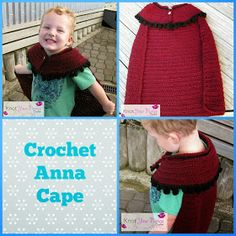 Crochet inspired Anna cape from frozen.