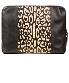 3.1 Phillip Lim Black Leopard Medium 31 Minute Leather Clutch Bag