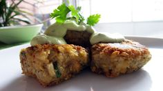 Quinoa Falafel with Avocado Tahini Dressing