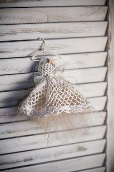 Μπομπονιέρα βάπτισης φόρεμα