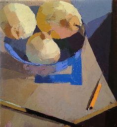 'Pencil, Pears, & Brush', 10 x 9, Oil on Linen, SMG ID #453 by Jeremy Durling