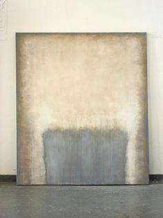 CHRISTIAN HETZEL: grounded blue,  2015 - 110 x 95 cm - acrylic on canvas,